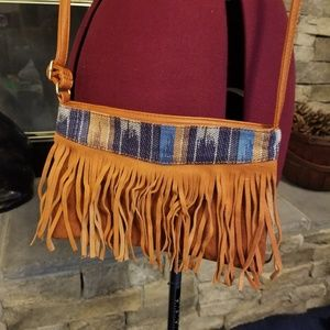 Street Level Vegan Leather Fringe Crossbody